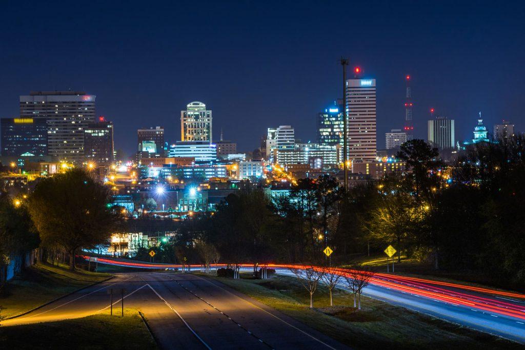 Columbia SC At Night
