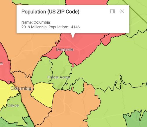 Heat Map Millennials Richland County